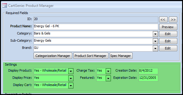 ProductManagerSettings